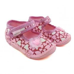 VIGGAMI dievčenské textilné papuče ADA druk