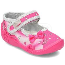 VIGGAMI dievčenské textilné papuče ALA druk