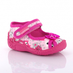 VIGGAMI dievčenské textilné papuče ZULKA druk