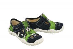 VIGGAMI chlapčenské textilné papuče AGAS zelené