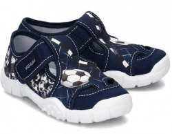 VIGGAMI chlapčenské textilné papuče AGAS modré