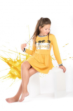 Dlhorukávová dievčenská tunika bavlnená