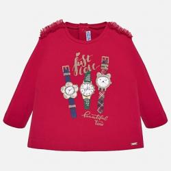 MAYORAL  dievčenské  tričko 2013-094 red