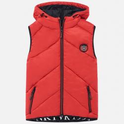 Chlapčenská  vesta s kapucňou MAYORAL 7315-092 red