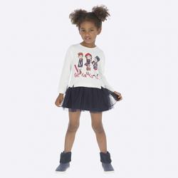 Dievčenské šaty s tylovou suknňou MAYORAL 4945-027 navy
