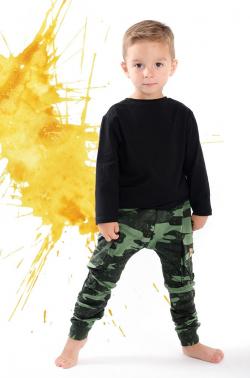 Chlapčenské pudlové nohavice MM 601 army green