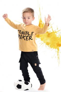 Chlapčenské pudlové nohavice čierne MM 601