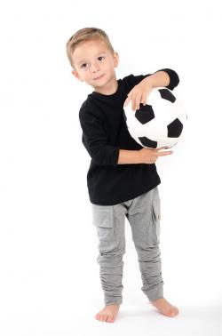 Chlapčenské bavlnené pudlové nohavice sivé MM 601