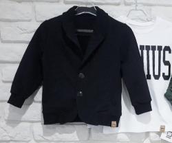 Bavlnené chlapčenské sako-kabátik MM 973 čierne