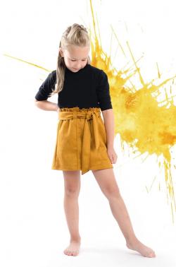 Dievčenská jesenná sukňa MM 535 žltá