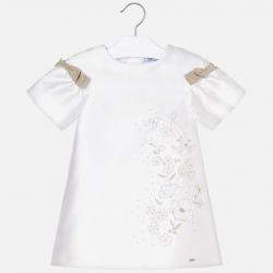 Elegantné dievcčenské šaty MAYORAL 3908-050 Natural