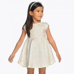 Spoločenské dievčenské šaty MAYORAL 3910-056 Natural