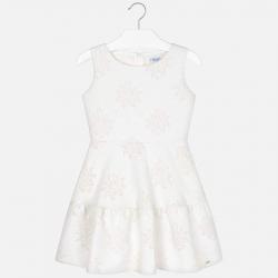 MAYORAL spoločenské dievčenské šaty lurexové 6918-051