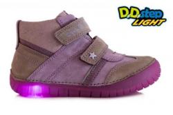Svietiaca dievčenská obuv D.D.STEP 050-8L mauve