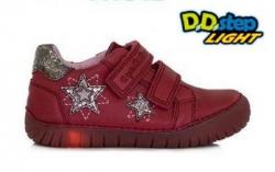 Svietiaca kožená obuv D.D.STEP 050-11AM raspberry