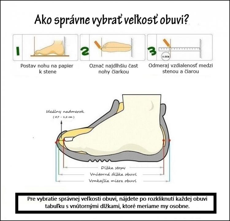 Ako správne vybrať veľkost obuvi