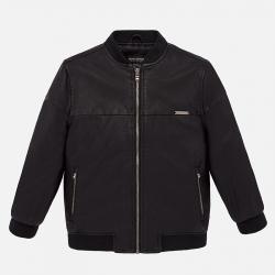 MAYORAL chlapčenský kožený kabát 7439-015 black