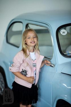 Dievčenská prechodná bunda ružová