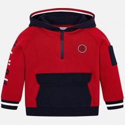 MAYORAL chlapčenská mikina s kapucňou 4433-011 red