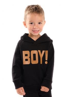 Chlapčenská mikina s nápisom BOY čierna MM930 boy black