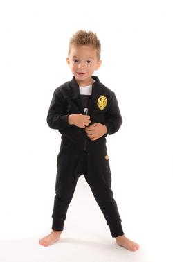 Čierna bavlnená chlapčenská bundička MM 935 boy black