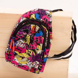 Chlapčenský vzorovaný crossbody batoh ružový