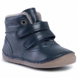 FRODDO kožená zimná barefoot obuv G2110078 dark blue