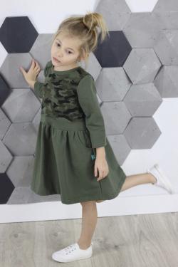 Dievčenská tunika šaty maskáčová MM 552 army