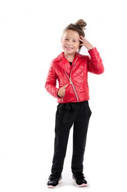 Dievčenská prechodná bunda červená MM 251 red