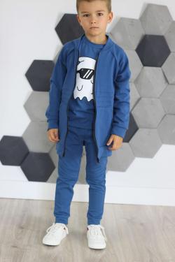 Bavlnená chlapčenská mikina MM 907 blue