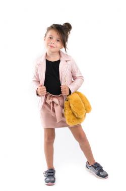 Dievčenská jesenná sukňa MM 535 pink