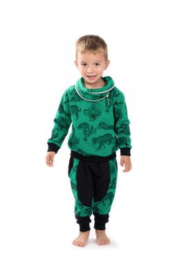 Zelená bavlnená chlapčenská mikina MM 937 green leo
