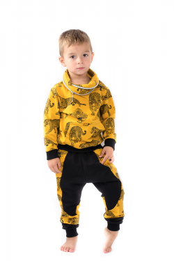Žltá bavlnená chlapčenská mikina MM 937 yellow leo
