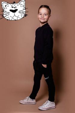 Bavlnená chlapčenská mikina  black X