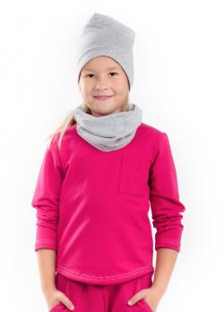 Bavlnená predĺžená dievčenská mikina