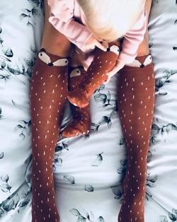 Podkolienky Mamas' feet BROWN