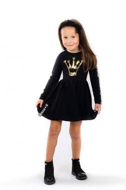 Bavlnená dievčenská tunika QUEEN black