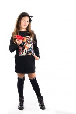Bavlnená dievčenská tunika VOGUE black