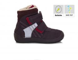 BAREFOOT DD.STEP detská zimná obuv 023-804CL violet