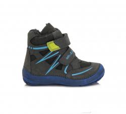 DD.STEP chlapčenská zimná obuv 023-805AM dark grey