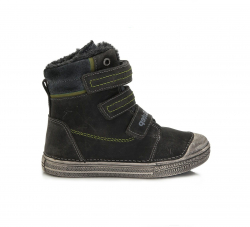 Chlapčenská zimná obuv DD.STEP 049-912AM dark grey