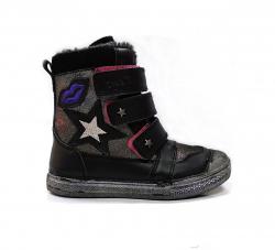 Dievčenské zimné čižmy DD.STEPDD 049-913BL black