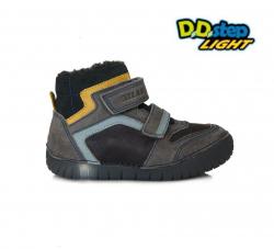 Svietiaca zimná obuv chlapčenská D.D.STEP 050-5AM grey