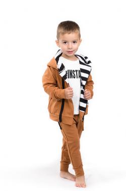 Detská bavlnená mikina hnedá