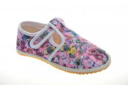 Dievčenské barefoot papuče JONAP sloník