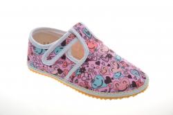 Dievčenské barefoot papuče JONAP srdce