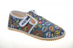 Chlapčenské barefoot papuče JONAP boom bl