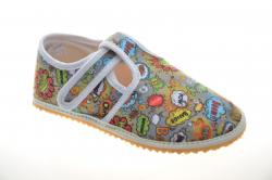 Chlapčenské barefoot papuče JONAP boom g