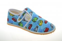 Chlapčenské barefoot papuče JONAP car t