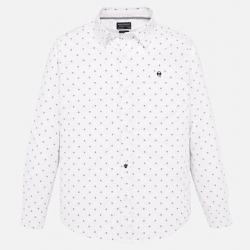 MAYORAL košeľa s drobným vzorom 7116-022 White